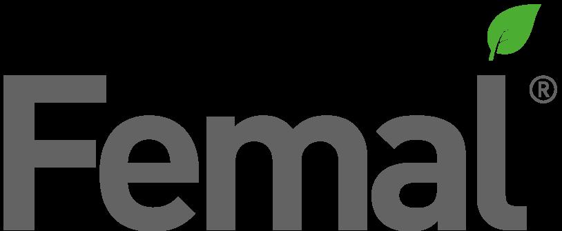 logo Femal 100% di origine vegetale